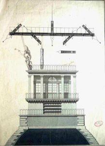 Dessin du poste type Landau prévu sur le dôme du Louvre
