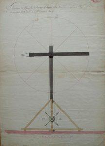 Plan d'élévation d'un télégraphe Chappe (25 vendémiaire an III)