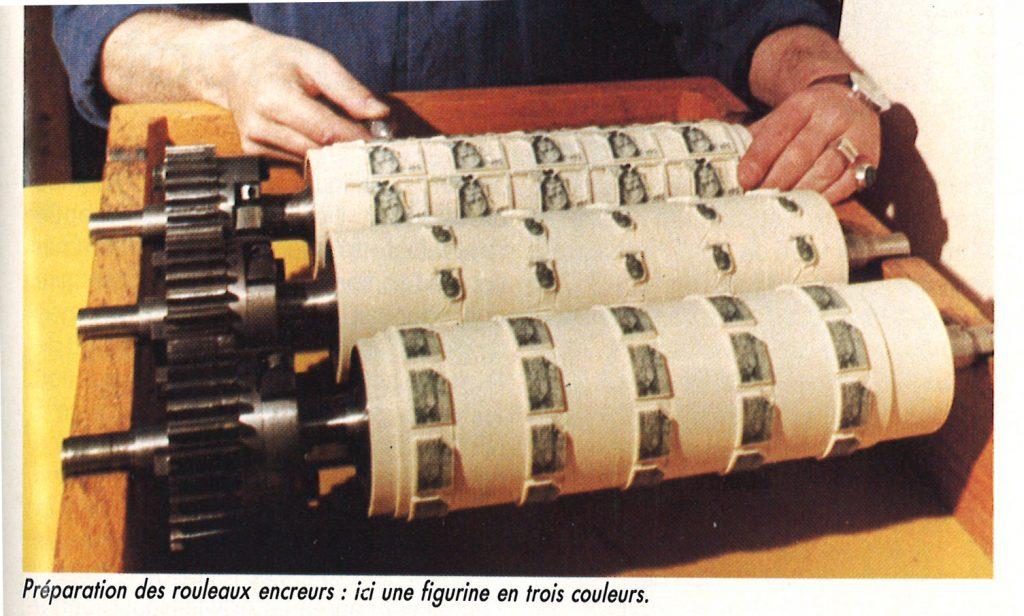 rouleaux pour l'impression des timbres poste